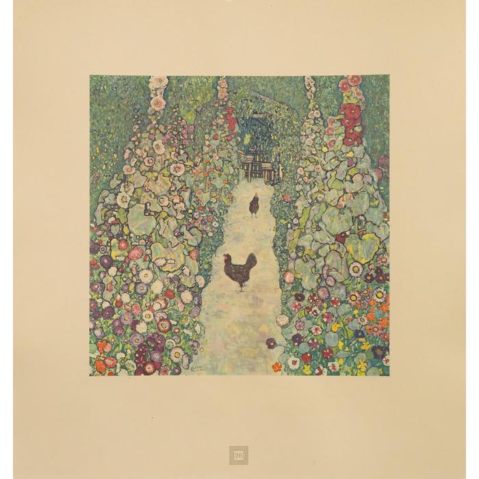 Gustav Klimt-Garden Path with Hens No.26-