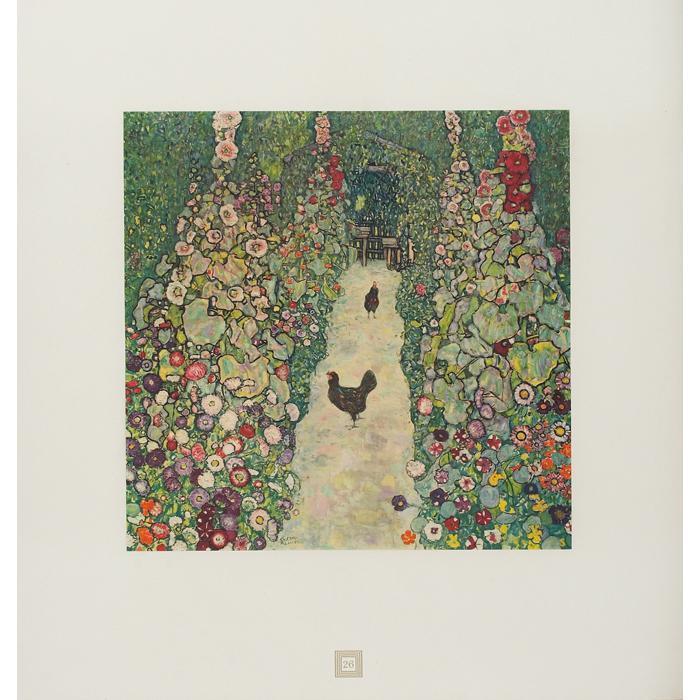 Gustav Klimt-(i) Garden Path with Hens No.26; (ii) Field of Poppies, No. 5-1931