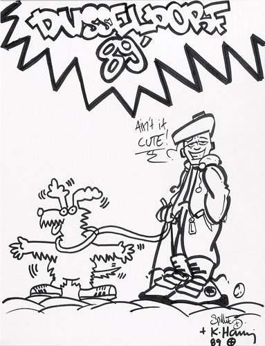 Keith Haring-Keith Haring - Dusseldorf 89, Aint'it cute-1989