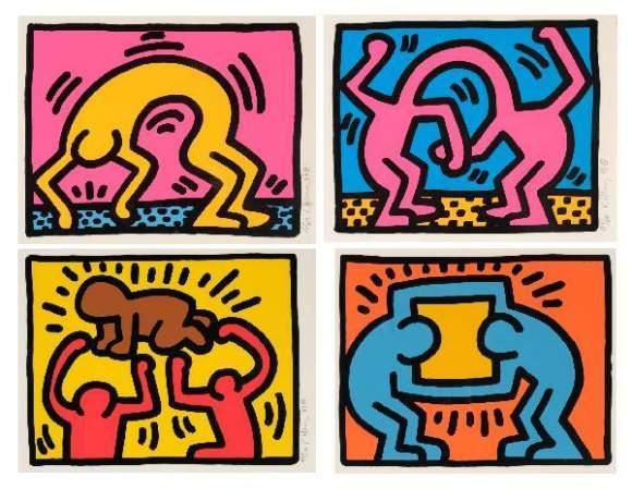 Keith Haring-Keith Haring - Pop Shop II (nrs. 2 & 4); Pop Shop IV (nr. 2); Pop Shop VI (nr. 2)-1989