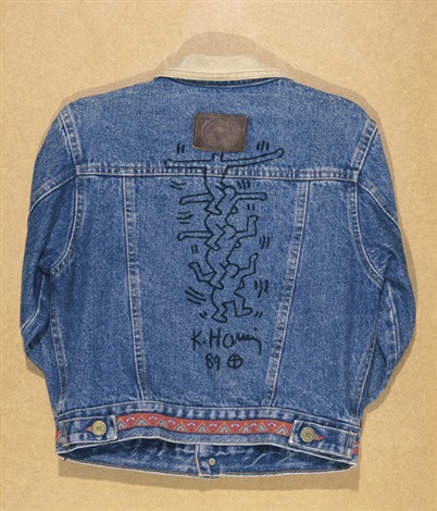 Keith Haring-Keith Haring - Maaike's jacket with dancing figures-1989