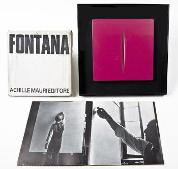 Lucio Fontana-Concetto Spaziale & Catalogue Achille Mauri Milano-1968