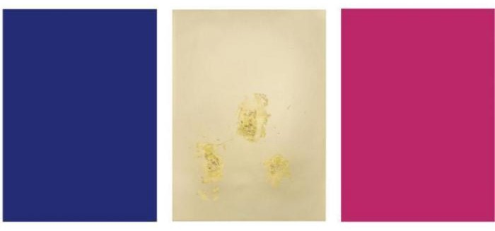 Yves Klein-Monochrome und Feuer-1961