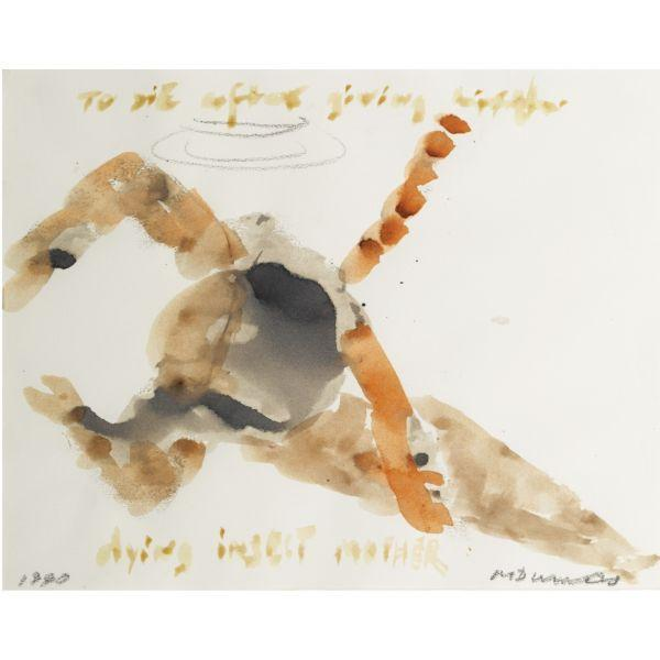 Marlene Dumas-(i) To Die After Giving Birth; (ii) Dying Insect Mother-1990
