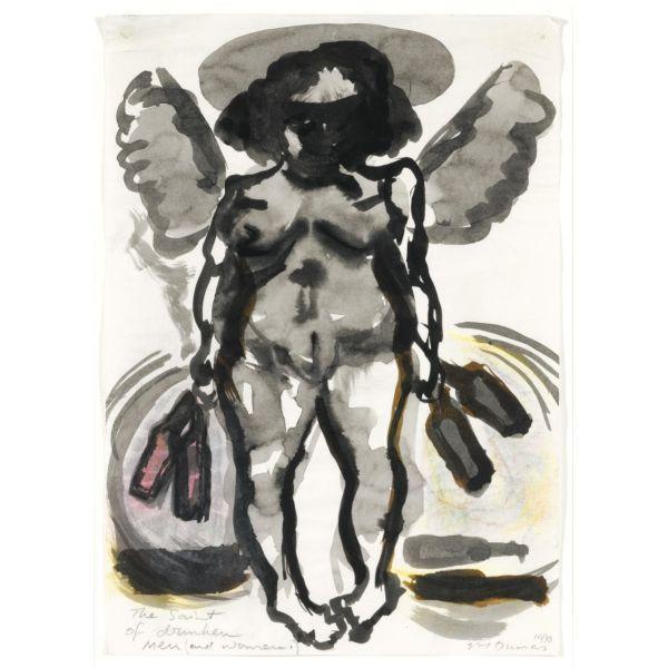 Marlene Dumas-The Saint of Drunken Men (And Women)-1990