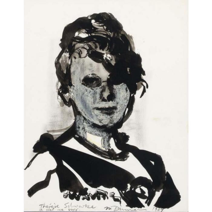 Marlene Dumas-Therese Schwartze, ik stel me voor (Therese Schwartze, I introduce myself)-1989