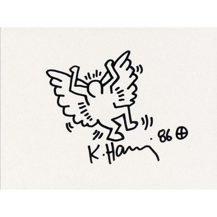 Keith Haring-Keith Haring - Angel-1986