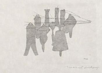 Marcel Duchamp-Nine Malic Moulds (2nd state)-1965