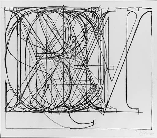 Jasper Johns-Alphabet (f.115; U.l.a.e. 69)-1969