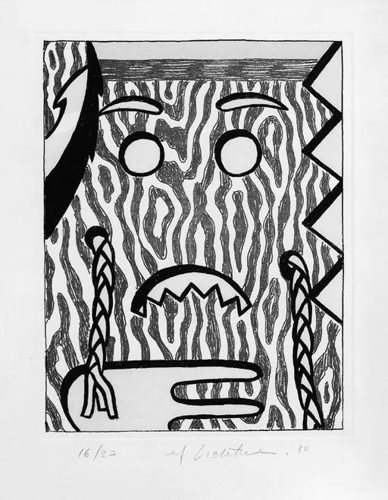 Roy Lichtenstein-Head with Braids-1980