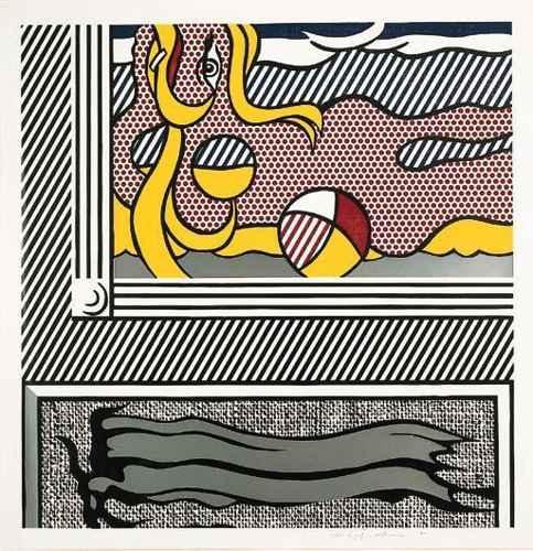 Roy Lichtenstein-Beach Ball, from Painting Series-1984