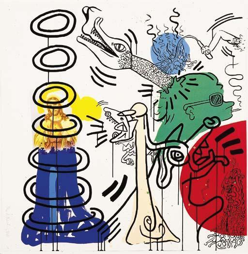 Keith Haring-Keith Haring - Apocalypse: Eight Plates-1988