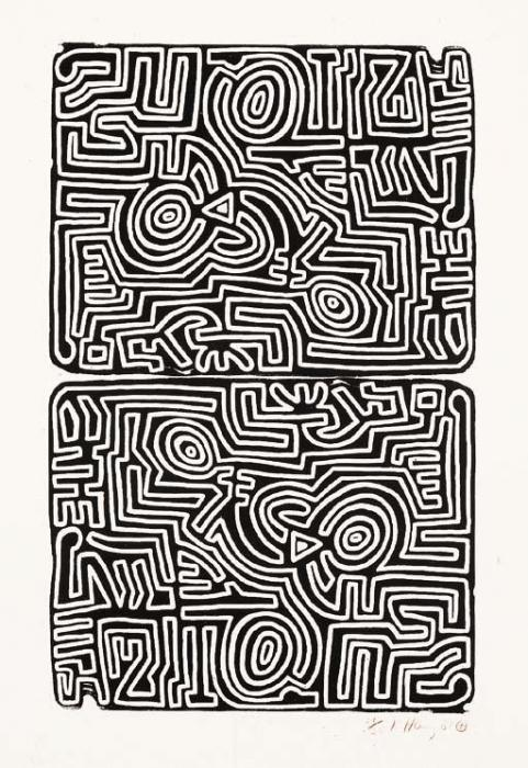 Keith Haring-Keith Haring - The Labyrith-1989