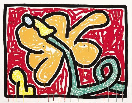 Keith Haring-Keith Haring - Flower Suite-1990