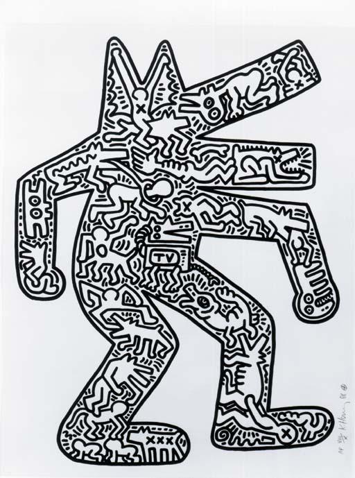 Keith Haring-Keith Haring - Dog-1987