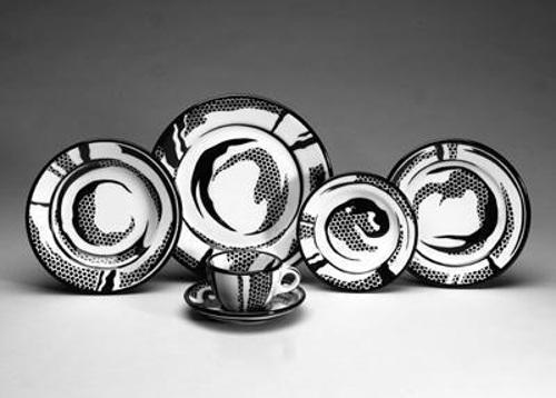 Roy Lichtenstein-Dinnerware: Eight Settings-1966