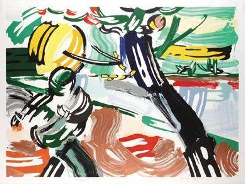 Roy Lichtenstein-The Sower (from the Landscapes series)-1985
