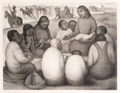 Diego Rivera-Escuela al aire libre-1932