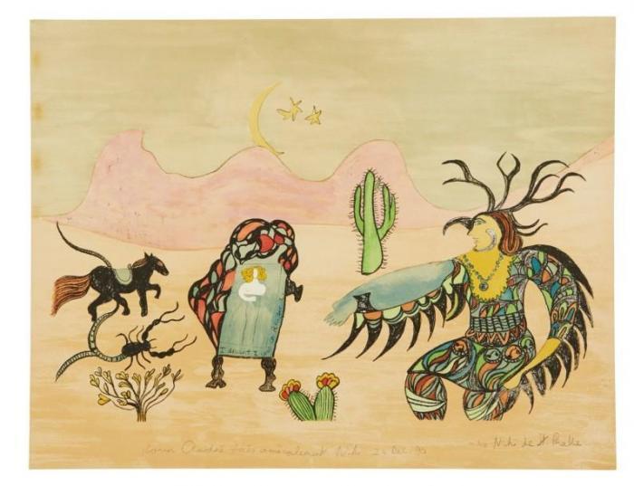 Niki de Saint Phalle-I dreamt I was in Arizona-1990