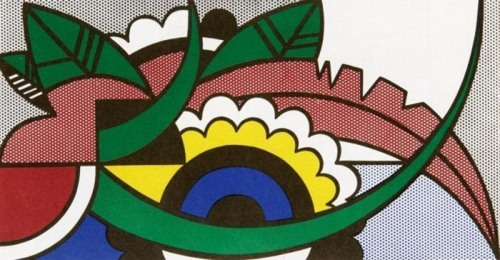 Roy Lichtenstein-Modern Painting with floral Forms-1967