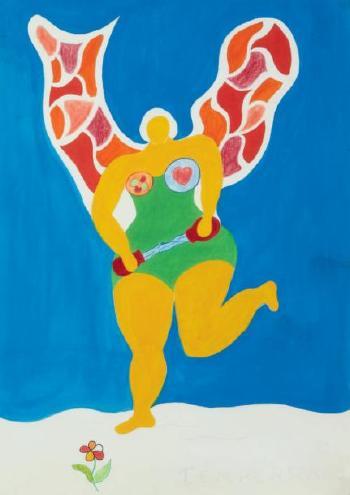 Niki de Saint Phalle-Temperance, (Ohne Titel (Card No. XIIII Temperance))-1988