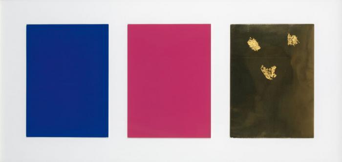 Yves Klein-Monochrome und feuer (bleu, rose, or)-1961