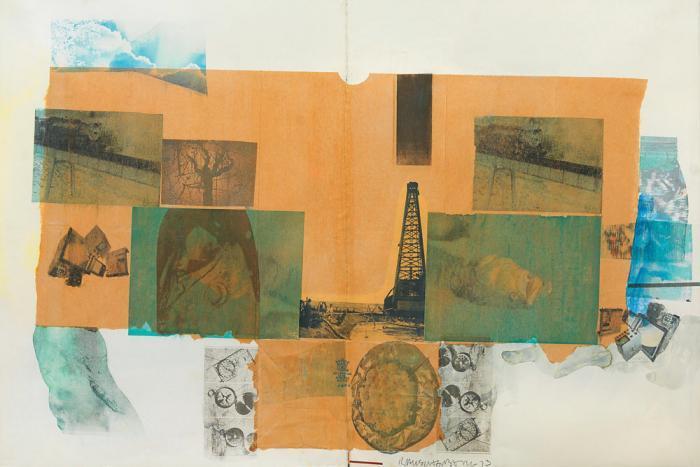 Robert Rauschenberg-Robert Rauschenberg - Combine Drawing-1973
