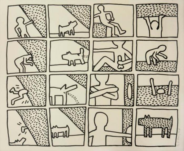 Keith Haring-Keith Haring - Blueprint drawing-1990