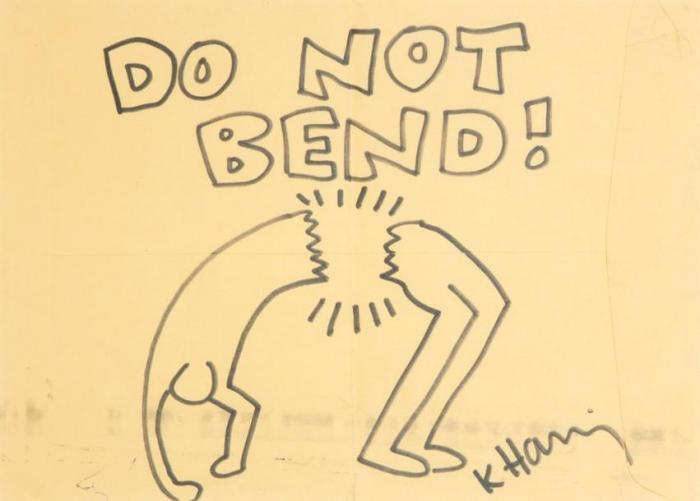 Keith Haring-Keith Haring - Untitled (Do not Bend !)-1989