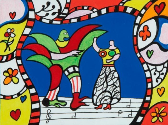 Niki de Saint Phalle-Le Theatre de l'Opera-1987