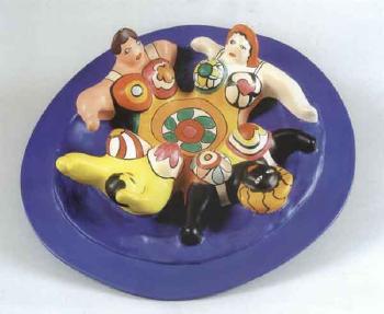 Niki de Saint Phalle-La fontaine aux quatre nanas, (Maquette d'une fontaine pour Amsterdam), (Nana Fontaine)-1991