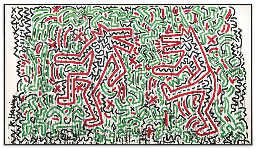 Keith Haring Untitled Dancing Dogs 1981