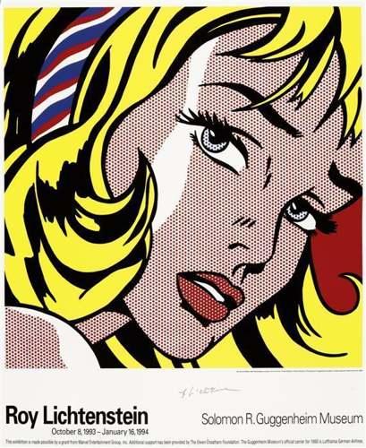 Roy Lichtenstein-Girl with Hair Ribbon-Guggenheim Museum-1993