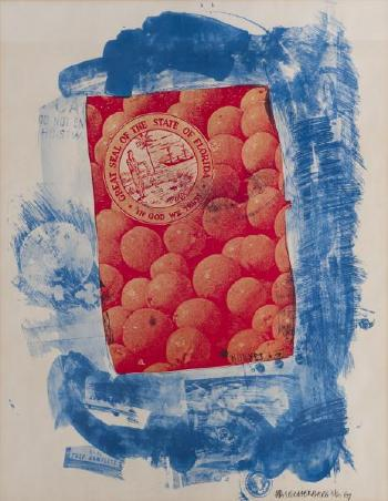 Robert Rauschenberg-Robert Rauschenberg - Great seal of the state of Florida-1969