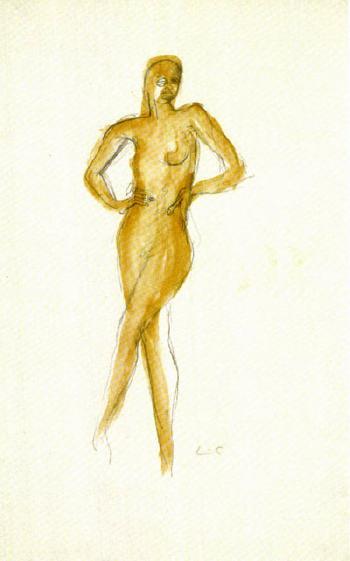 Le Corbusier-Stehender Akt, Josephine Baker-1929