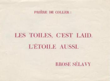 Marcel Duchamp-Les toiles, c'est laid, L'Etoile aussi-1952