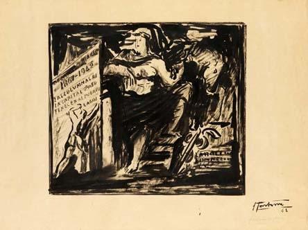 Lucio Fontana-Progetto per monumento-1942