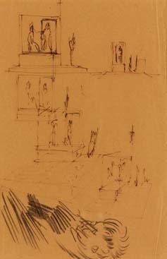 Lucio Fontana-Studi vari-1945