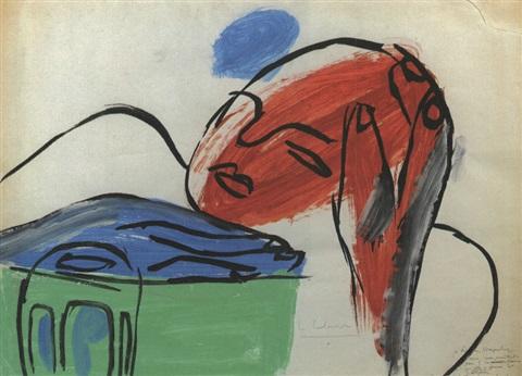 Le Corbusier-Femme acoudee sur une table-