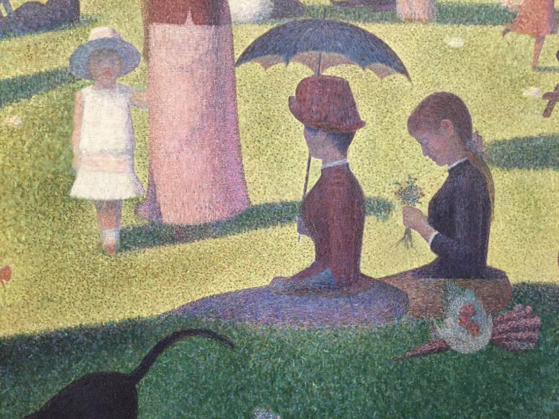 Seurat sunday afternoon in the park