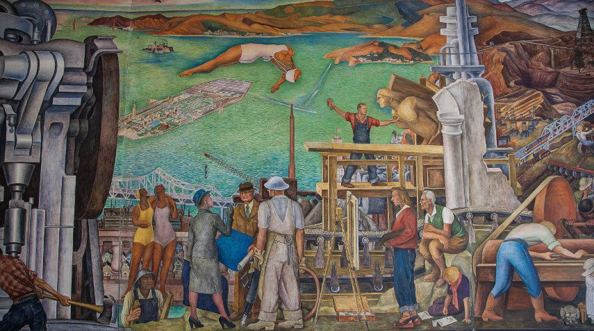 A Detail from the Fourth Project of the Mural