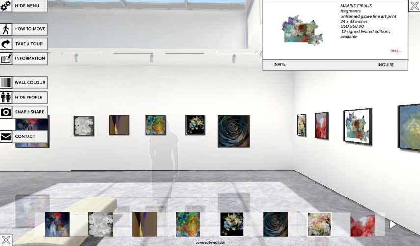 A Generic Example of an Exhibbit 3D Online Art Gallery