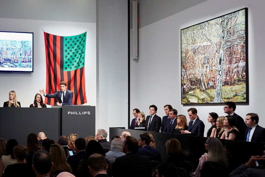 A Phillips 20th Century & Contemporary Art Auction - Image via flocklercom