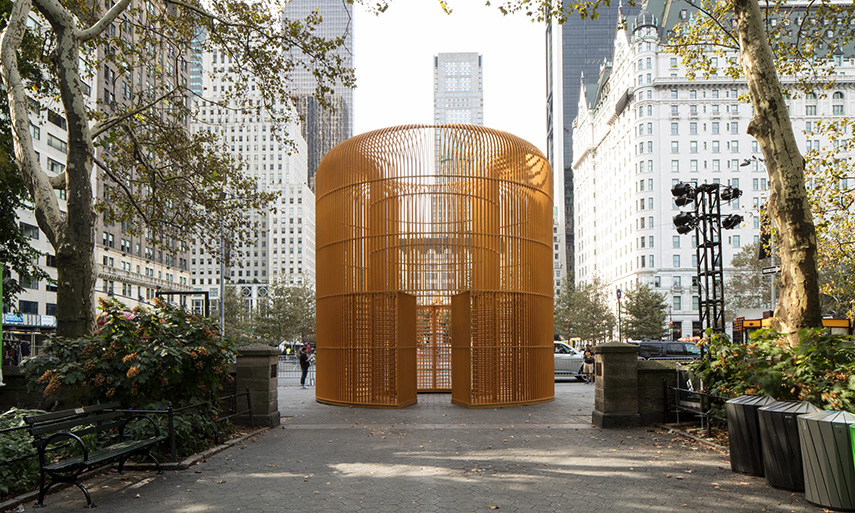 Ai Weiwei S Controversial Fences Erected In New York Widewalls