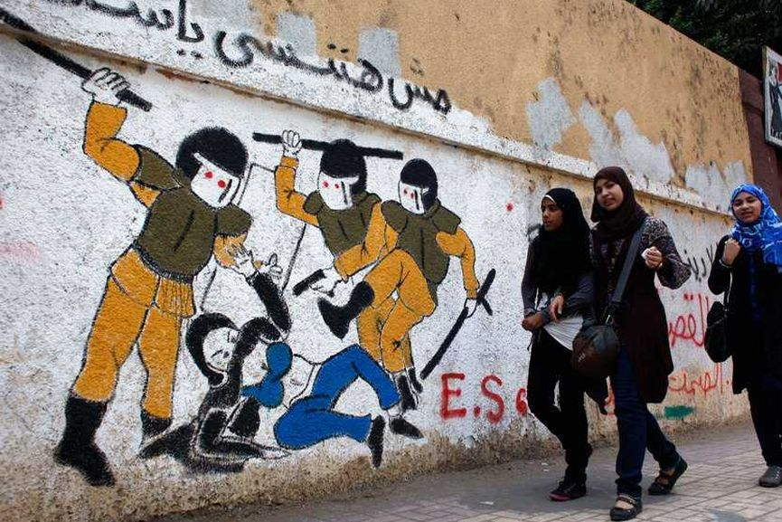 arab spring graffiti