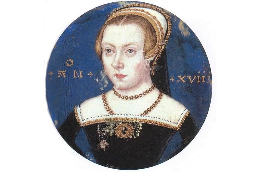 A portrait miniature of Princess Elizabeth Tudor by Levina Teerlinc, c. 1550-51; one of famous women artists in history
