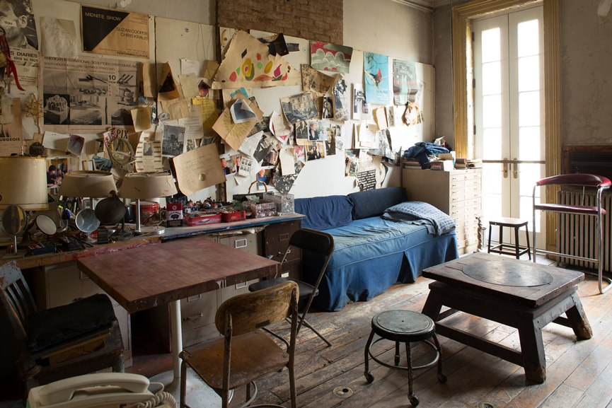 A view of the parlor in Louise Bourgeois's home