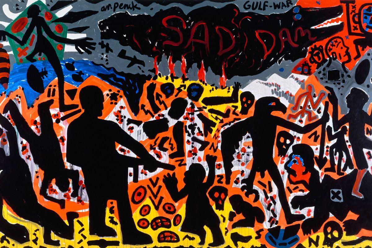 A. R. Penck - Golfkrieg, 1991