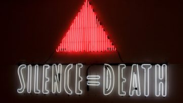ACT UP (Gran Fury) - SILENCE = DEATH, 1987