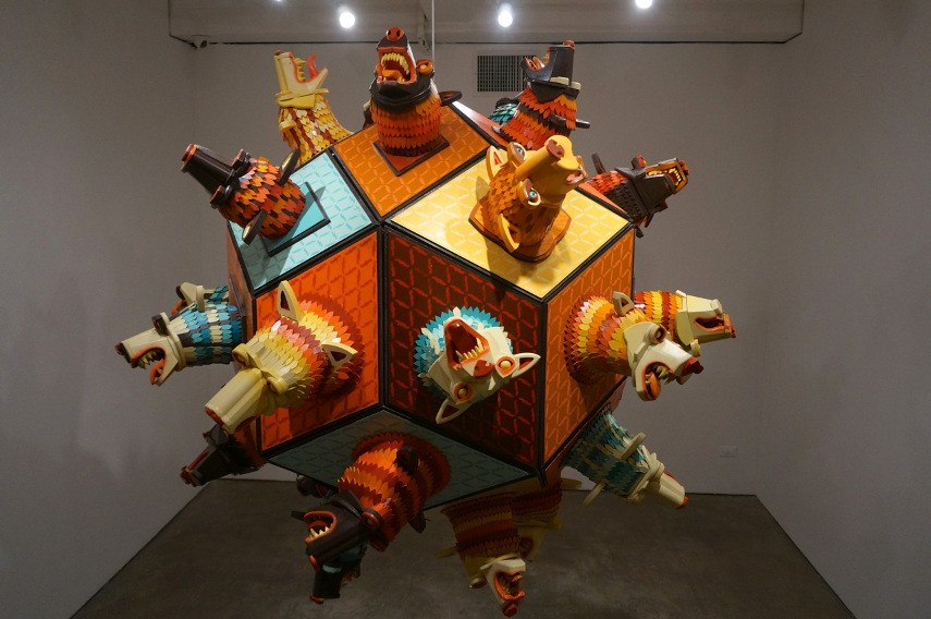 AJ Fosik - Against the Infinite, installation view - Photo via arrestedmotioncom